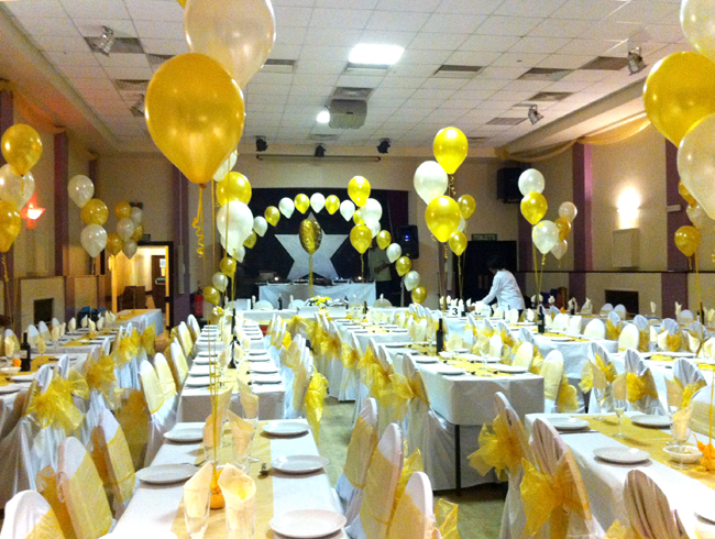 anne s florist hall decoration balloons amp chair covers